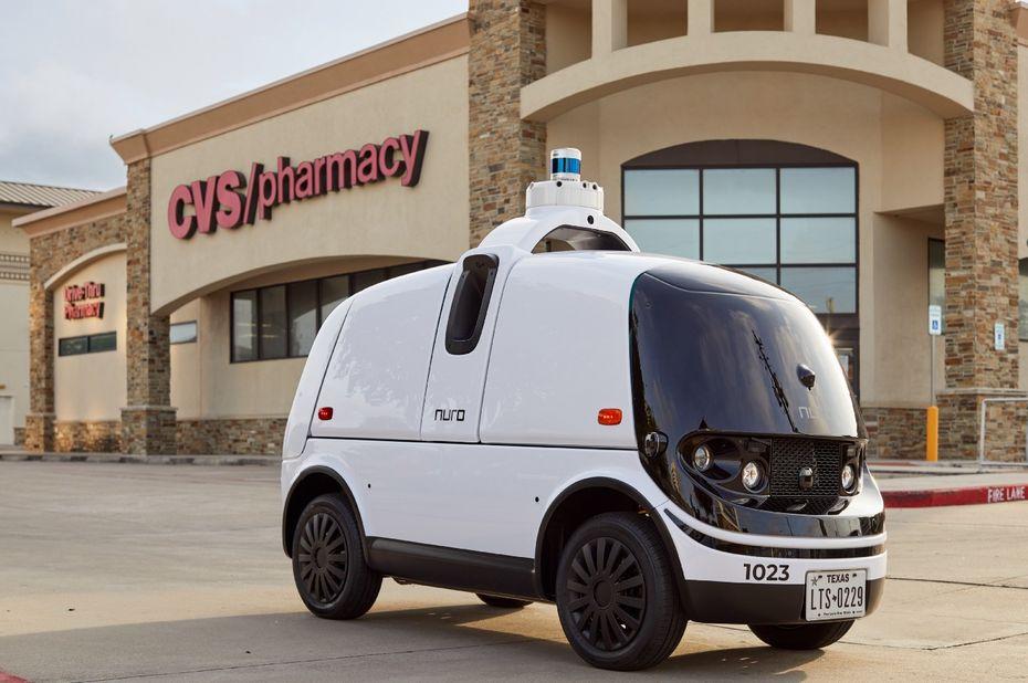 nuro autonomous vehicle delivers medecine