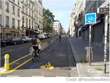 Paris new bike lanes