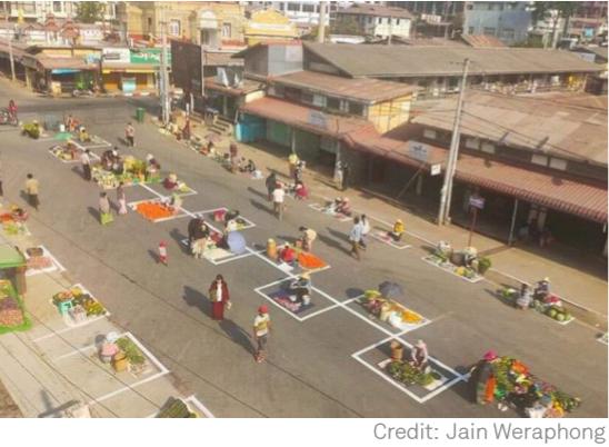 myanmar market separate vendor