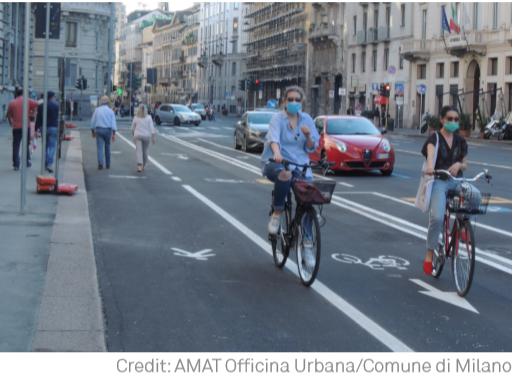 Milan social distancing