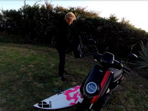 Surfer Niu electric scooter
