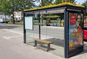 bus stop plants netherlands