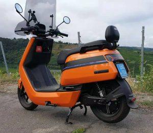 Custom orange NIU NQi scooter