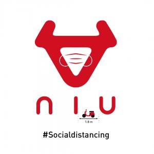 Logo de NIU con mascarilla