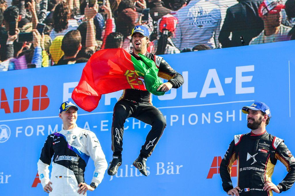 Antonio Felix da Costa viert zijn Formule E kampioenschap overwinning