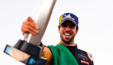 Antonio Felix da Costa shows off a trophy